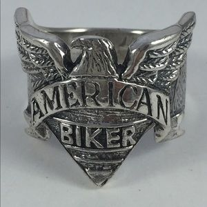 Other - Sterling silver .925 biker ring, heavy & handmade